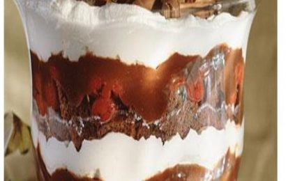 Black Forest Trifle Dessert or How to Make Chocolate Pudding