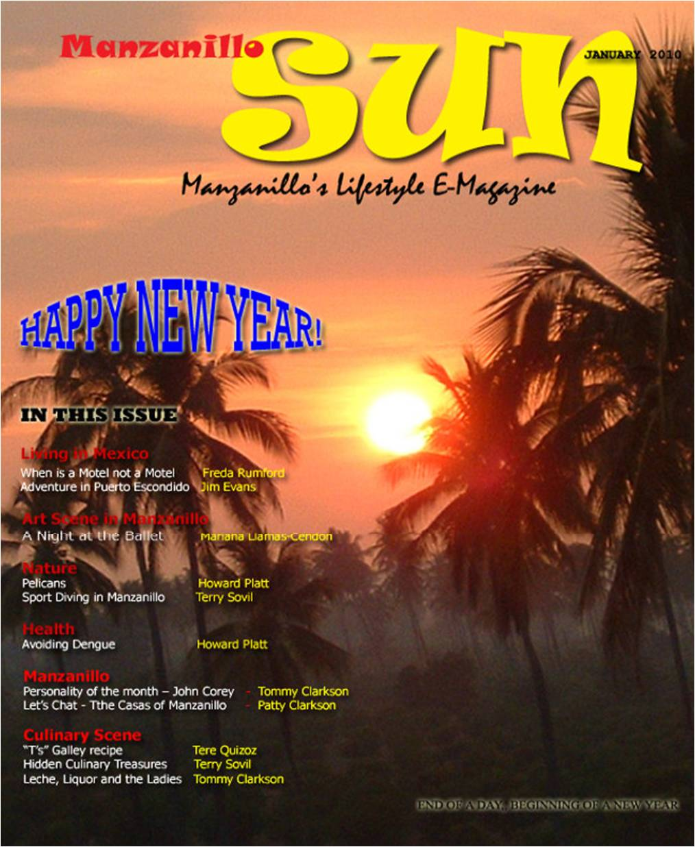 Manzanillo Sun January 2010 cover
