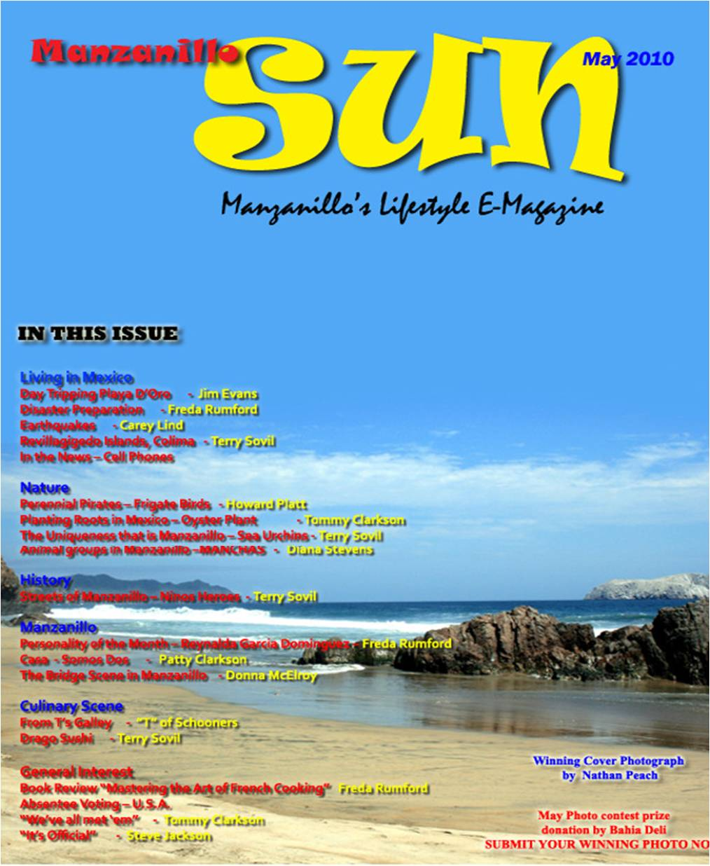 Manzanillo Sun May 2010 cover