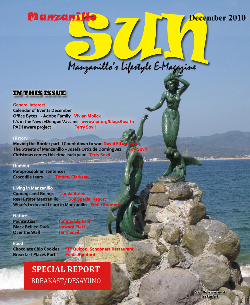 Manzanillo Sun December 2010 cover