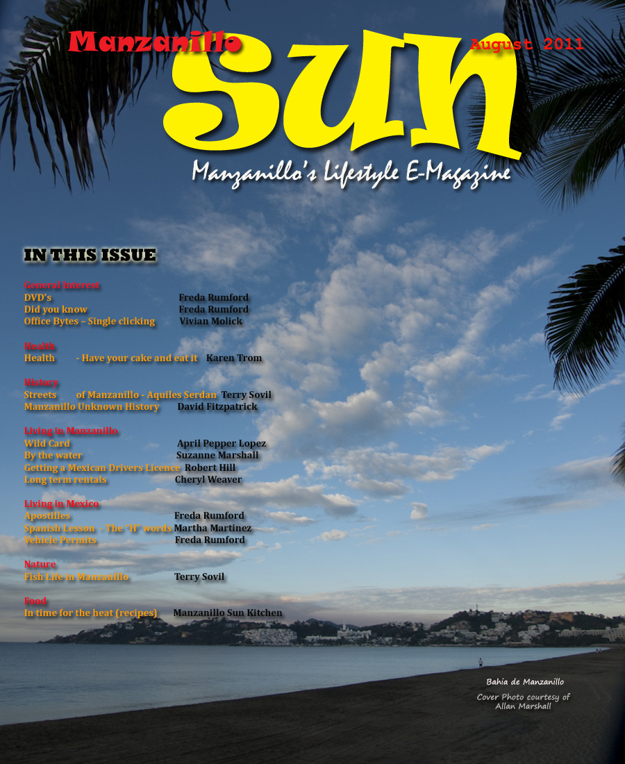 Manzanillo Sun August 2011 cover