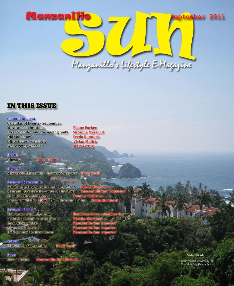 Manzanillo Sun September 2011 cover
