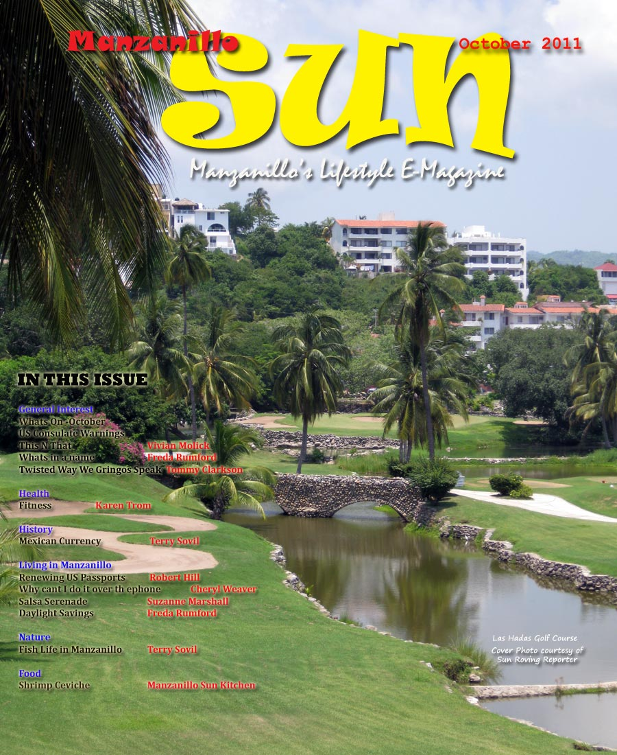 Manzanillo Sun October 2011 cover