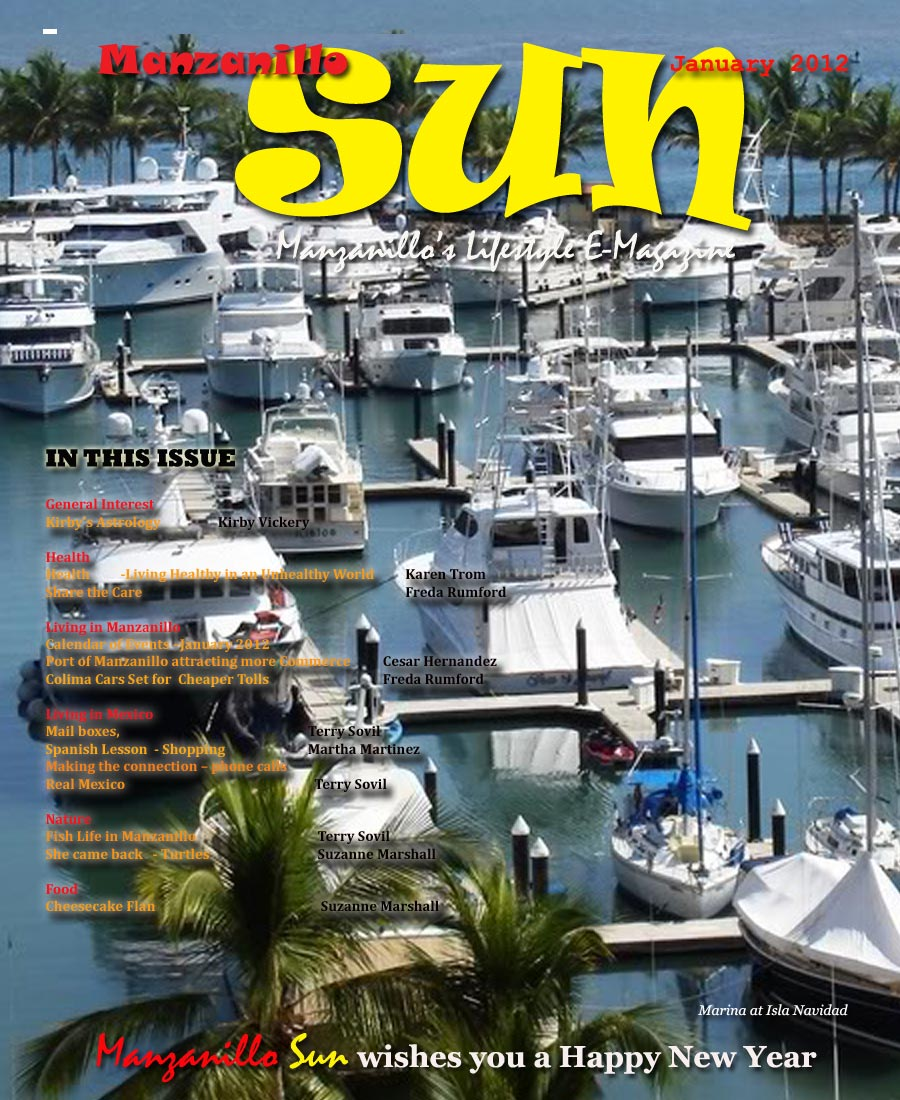 Manzanillo Sun January 2012 cover