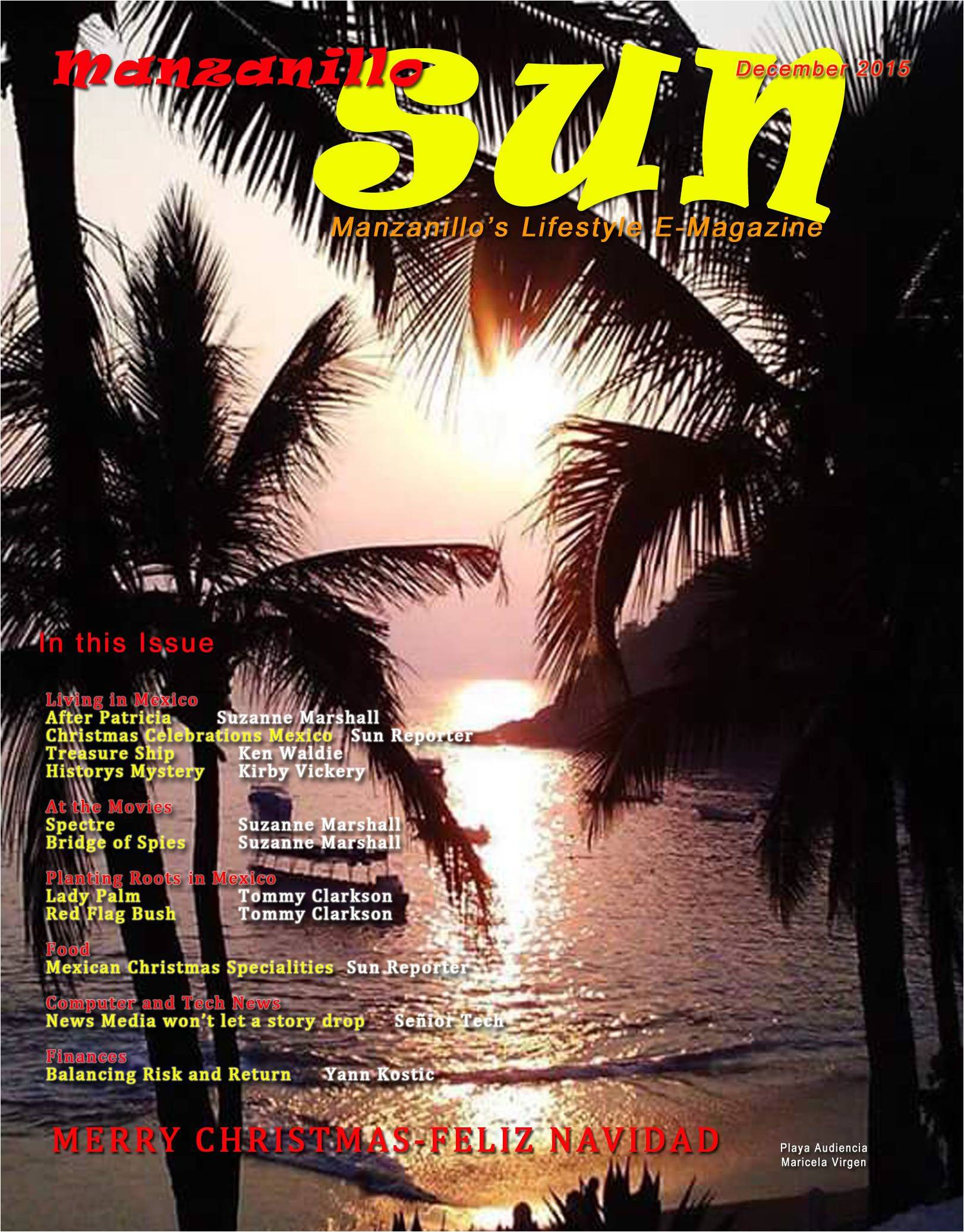 Manzanillo Sun e-magazine cover December 2015